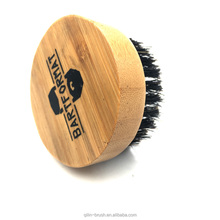 Factory priva international round ionic boar bristle wooden hair brush beard brush comb