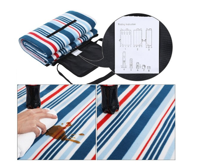 Promo custom waterproof 100% polyester picnic blanket