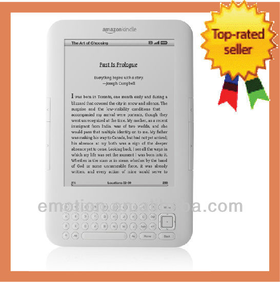 Amazon Kindle Keyboard WiFi + Worldwide 3G White Brand New Device e-reader Wholesales Electronic Books e-reader Kindle
