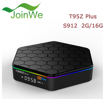 wechip T95z Plus 2GB/16GB Amlogic S912 Smart TV Box Octa-core Kodi17.0 Fully Load,5GWIFI,BT4.0,4K,H.265 Set Top Box