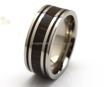 Wood Rings Mens Jewelry100 Hypoallergenic Black Enamel Border
