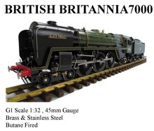 Britannia , 1:32 Live Steam Locomotive (Brass made)