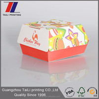 Commercial disposable custom burger and sandwich boxes