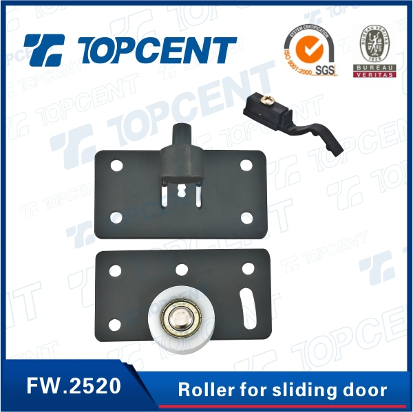 Black,white Iron and nylon sliding hanger door roller closet door roller