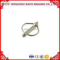 Nickel plated Locking Hitch Pin ,detal shaped linch pin clips