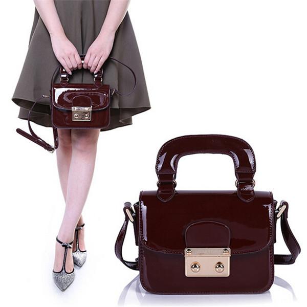 Get Quotations · Fashion Patent Leather Handbag 2015 PU Women Messenger Bags  Mini Shoulder Bag Ladies Hand Bags Party f341f6022713f