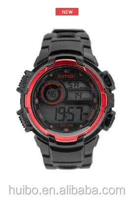 Digital water proof stopwatch with resin band