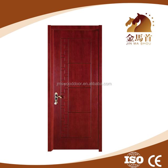 Color Paint Solid Wood Door Design , Latest Teak Wood Flush Door Design,  Veneer Wooden