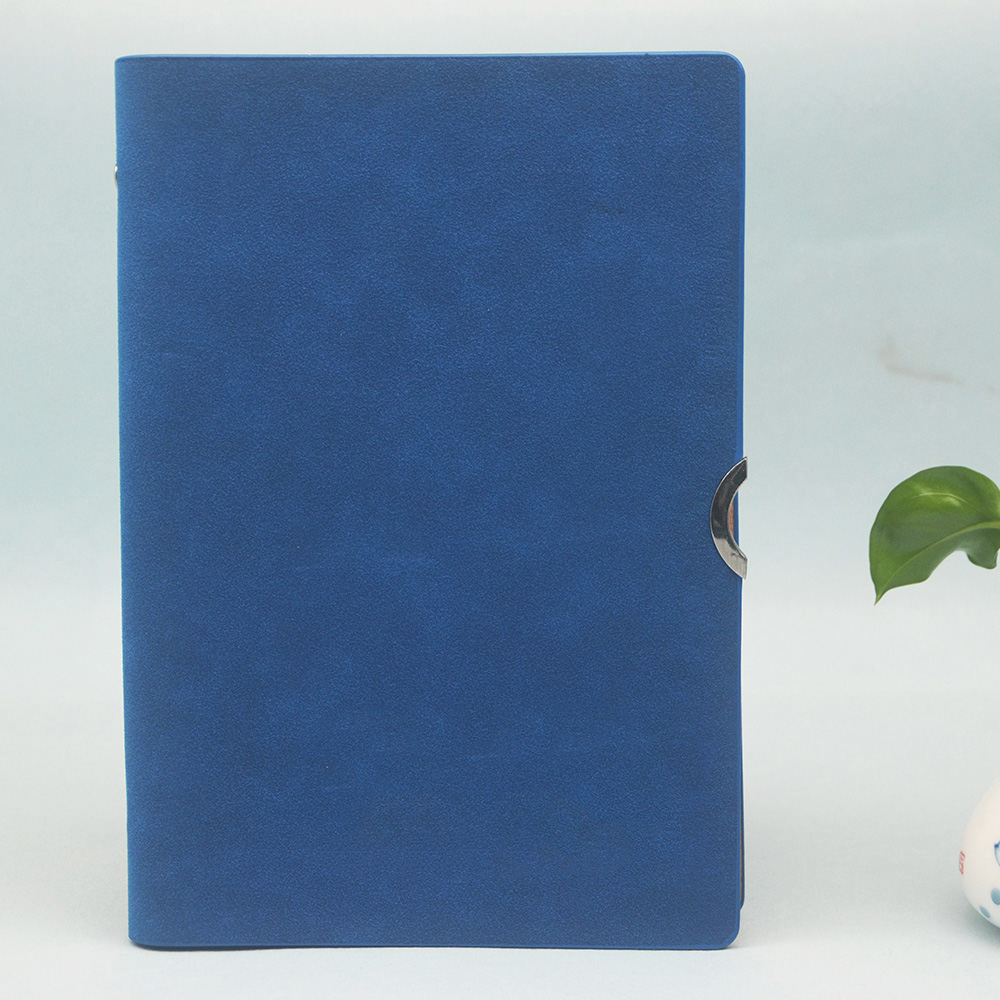 2018 hot selling custom hardcover leather notebook loose leaf diary folder with inner pocket