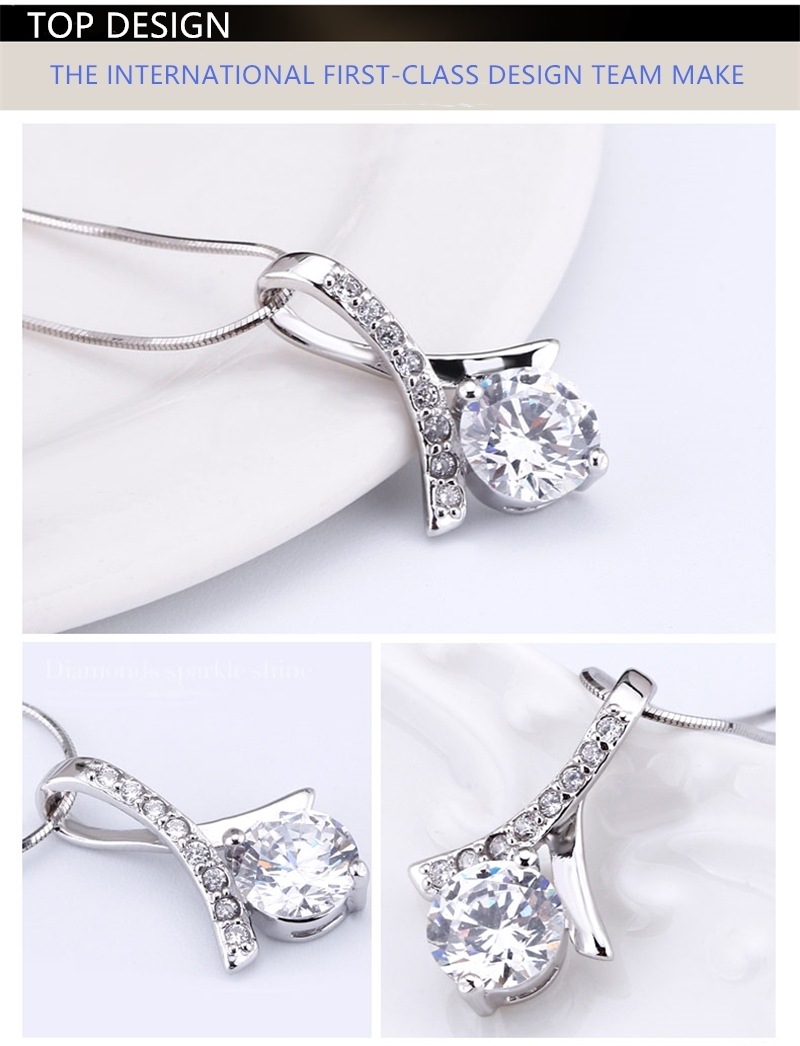 DongGuan manufacturer wholesale custom ladies pendant necklace jewellery fashion 925 sterling silver jewelry