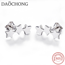 925 Sterling Silver Star Climber Stud Earrings For Women