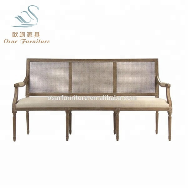 Astonishing French Vintage Caned Wood Linen Restaurant Dining Bench Sofa Buy Restaurant Dining Bench Caned Dining Bench Dining Bench Sofa Product On Alibaba Com Pabps2019 Chair Design Images Pabps2019Com