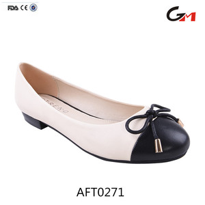 classic comfortable working walking nurse wholesale PU flat woman shoes