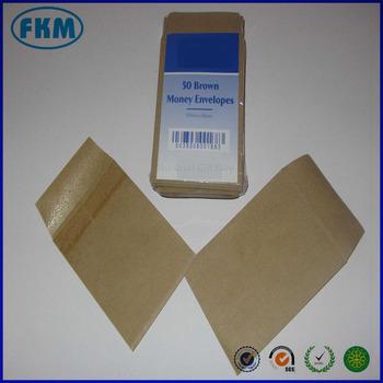 Small Brown Money Envelopes 100mm X 65mm Dinner Pocket Teeth Seeds