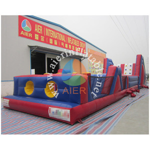 High quality crazy giant adult inflatable water obstacle course for sale