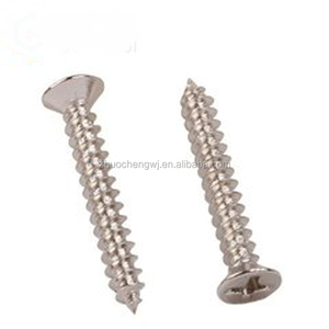 stainless steel countersunk cross recessed m6 flat head self tapping screw