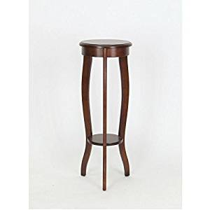 Get Quotations Wooden Pedestal Round Table Top With Curved Legs