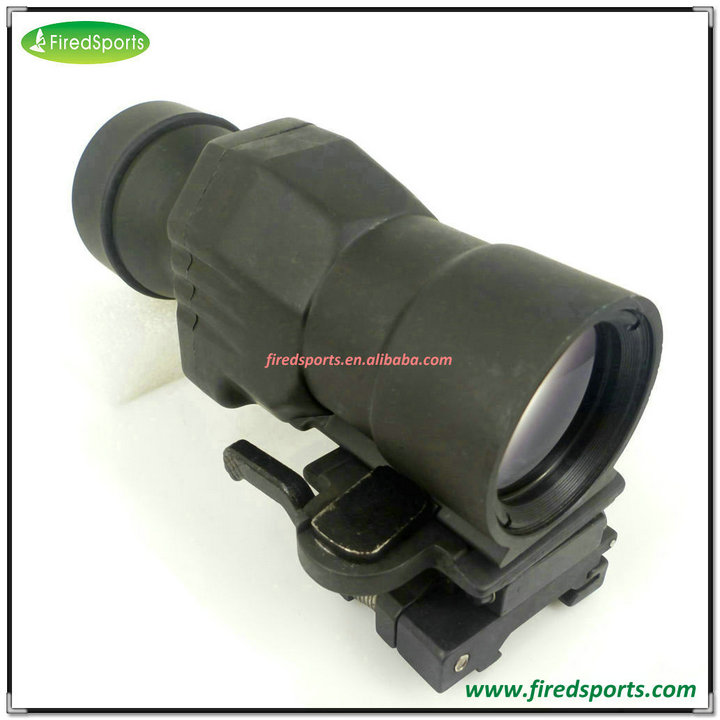 GSP0311--Hot Sell High Quality Tactical QD FTS 4X Magnifier Scope For Red Dot