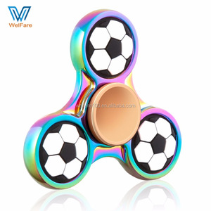 2017 Newest Anti Stress Football Zinc Alloy Fidget Hand Spinner