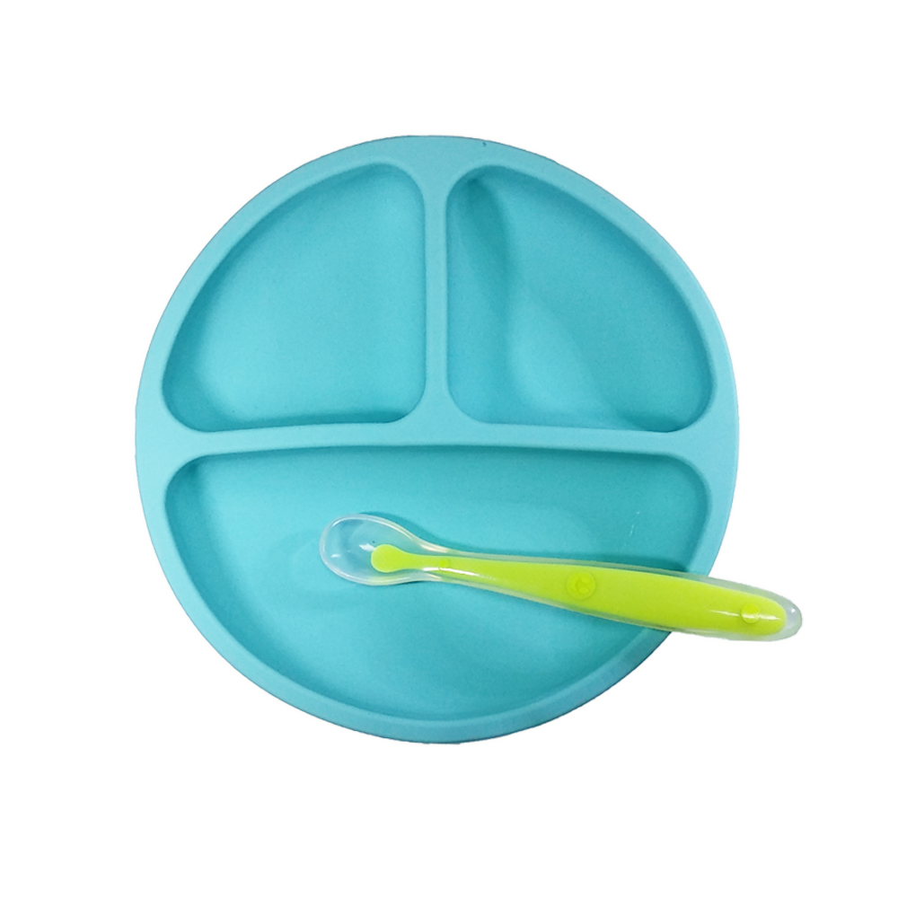 Amazon Hot Sale Custom Private Label Silicone Baby Feeding Bowl BPA Free Baby Food Feeder <strong>Plate</strong>