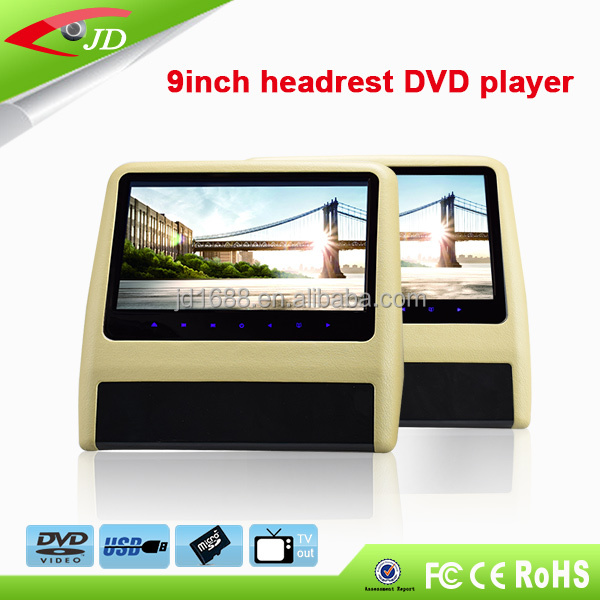 $41 Limited promotion Hanging 9 inch Car headrest dvd with USB/SD/HDMI