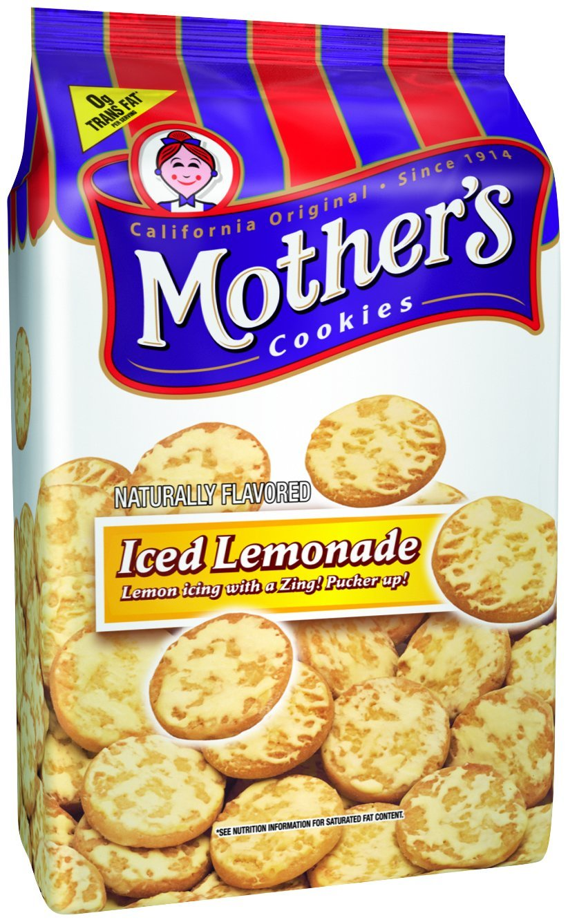Mother's Iced Lemonade Cookies, 14-Ounce Bags (Pack of 4)
