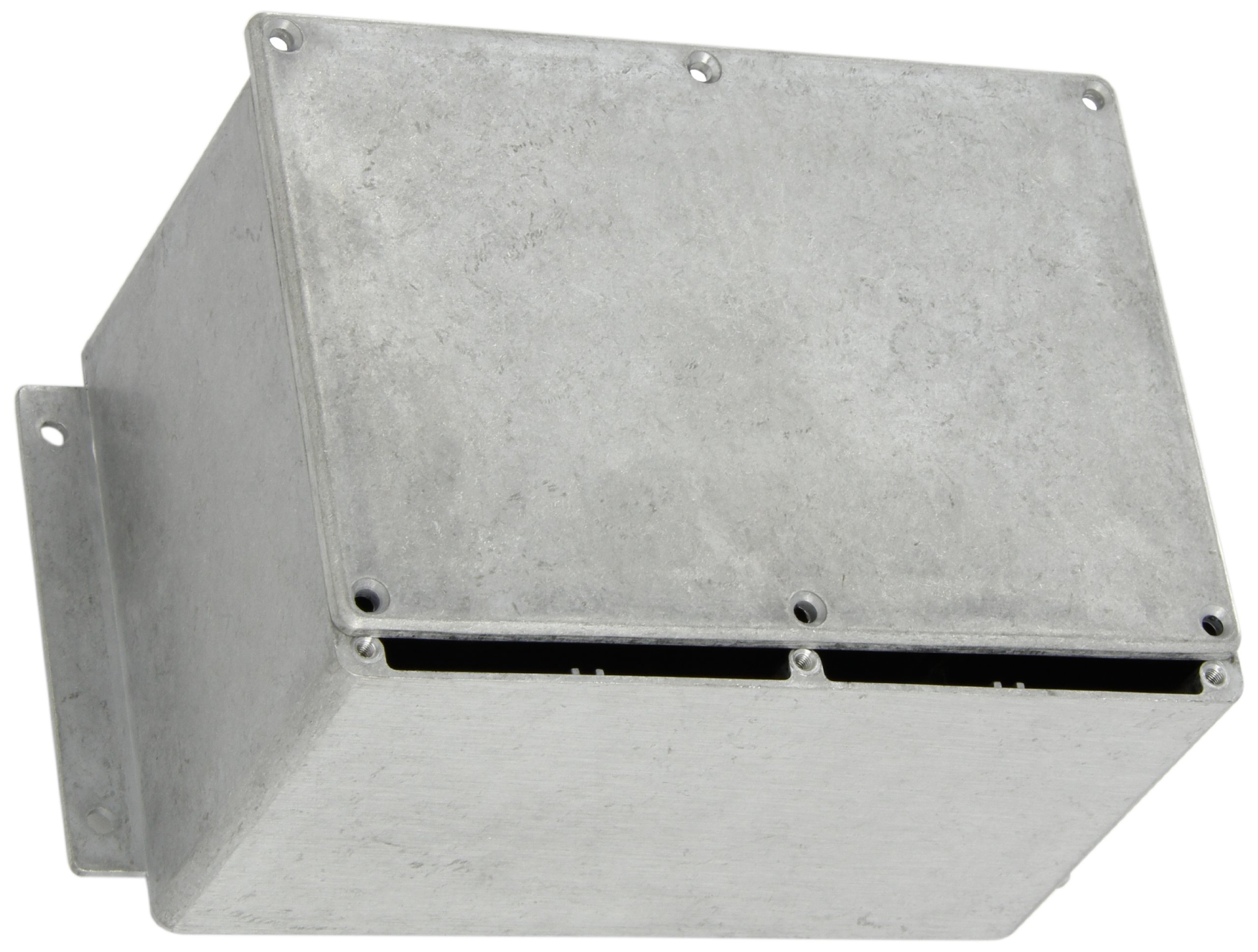 """BUD Industries CN-6710 Die Cast Aluminum Enclosure with Mounting Bracket, 6-49/64"""" Length x 4-49/64"""" Width x 4-13/64"""" Height, Natural Finish"""
