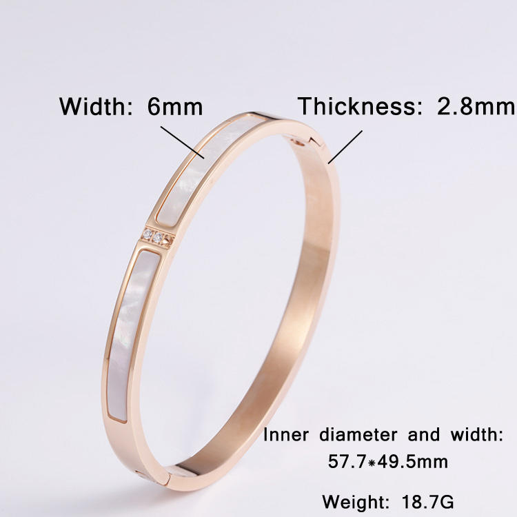 Customized Simple Ladies Stainless Steel Bracelet Fashion Diamond Cuffs Women Jewelry Gifts