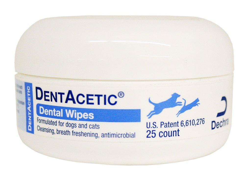 Dechra DentAcetic 25 Count Dental Wipes