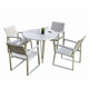 outdoor aluminum armchairs and tables furniture