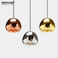 MEEROSEE Hand Blown Glass Pendant Lights Round Pendant Light Edison Lamp Retro MD83009B