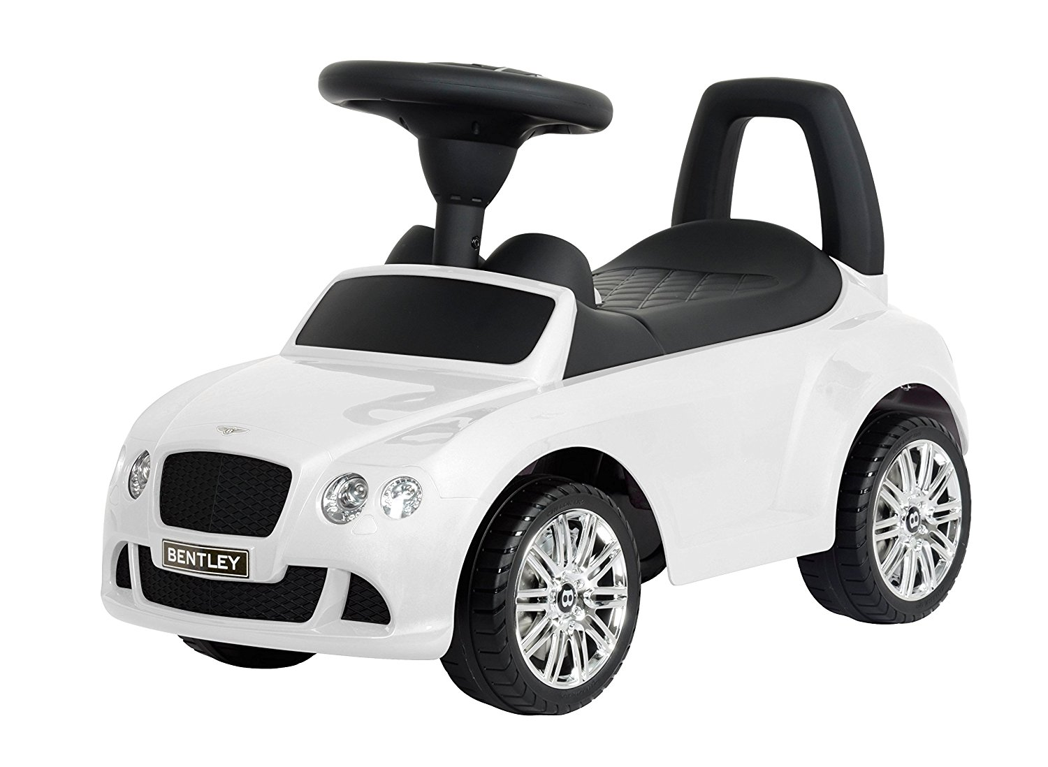 """Kids Preferred Licensed to Ride-On White Bentley Continental GT Speed, 26.2"""""""