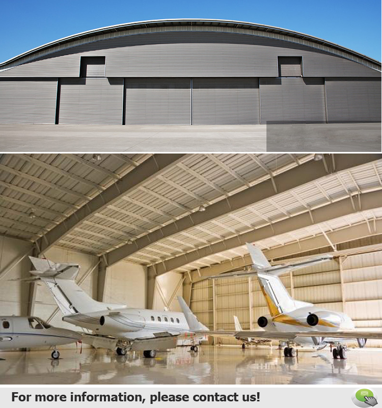Pre Engineered Modular Cheap Steel Aircraft Airplane Hangar
