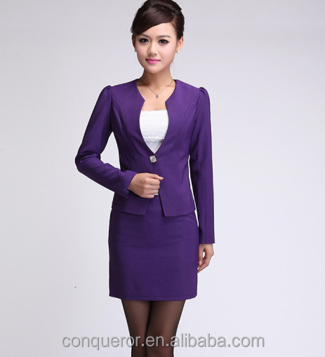 Ladies Purple Skirt Dress Suits,Women Suit For Business Working ...