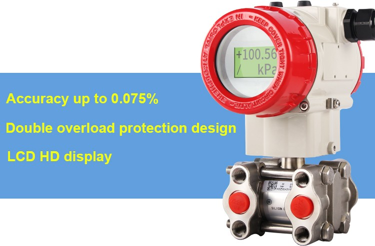 Liquid air 4-20mA smart differential pressure transmitter sensor price