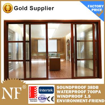 Slat sliding door with tempered glass buy slat sliding for Sliding glass doors germany