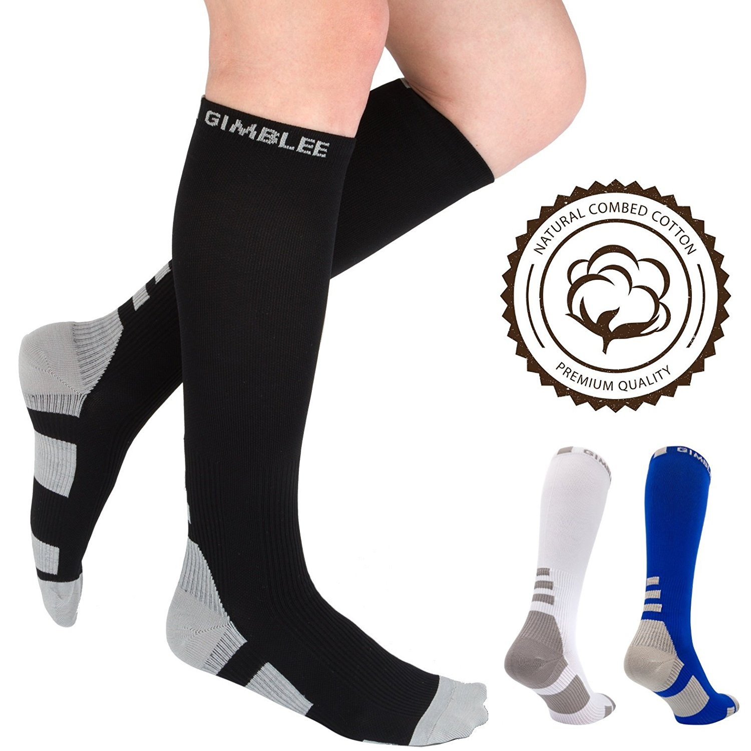d8342f8b4df Get Quotations · Compression Socks - Compression Stockings Women Men - Best  Medical - Long Sleeve - High Graduated