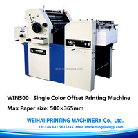 WIN500 Single colour offset press commercial printing machine for sale