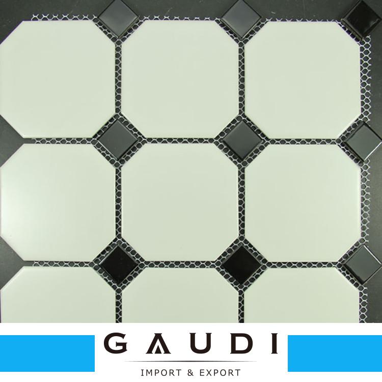 Black And White Octagon Ceramic Mosaic Tile Buy Ceramic Pool