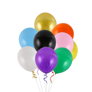Wholesale Black Golden Baby Shower Decoration 10inch 1.8g Round Latex Balloons Wedding Ballons Party Supplies Birthday Balloons
