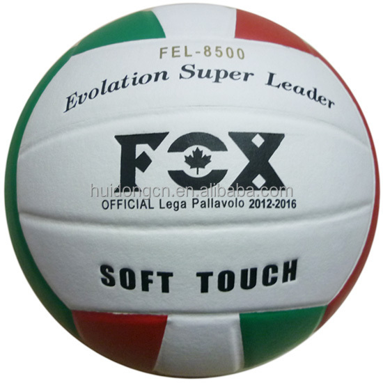 High Quality Official Size Weight Logo Print Match Wholesale Microfiber PU Volleyball Ball