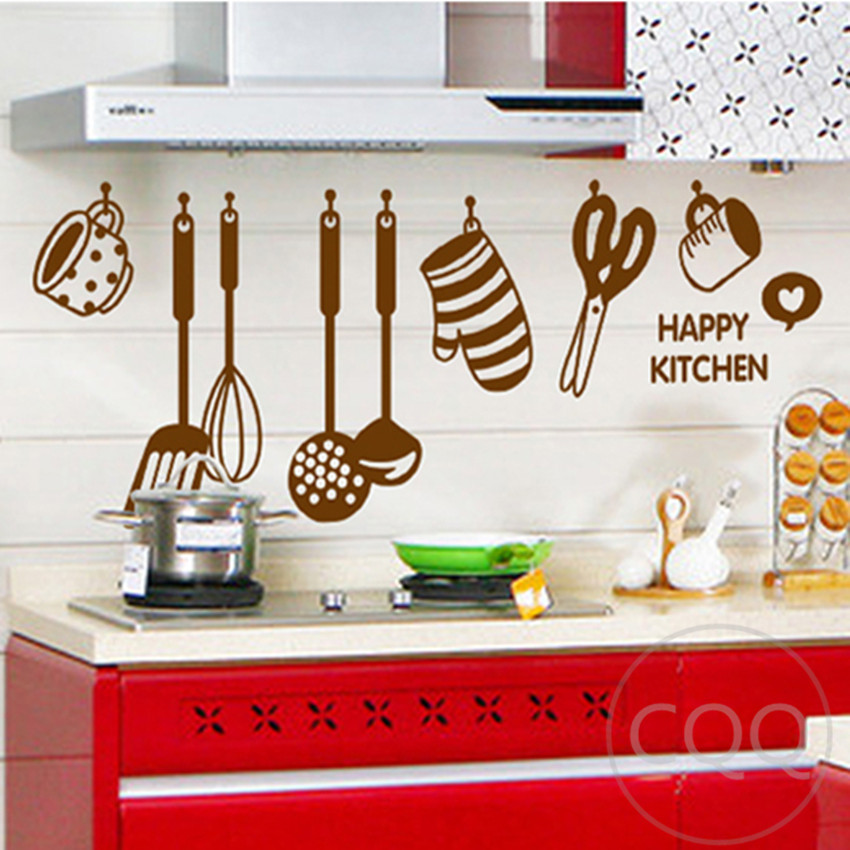 Stickers For Kitchen: Kitchen Cookware Wall Sticker Home Decor Diy Adhesive Art