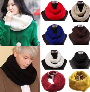 Wool Knit Crochet Warm Winter Neck Circle Lovers Long Scarf Shawl Wrap muffler