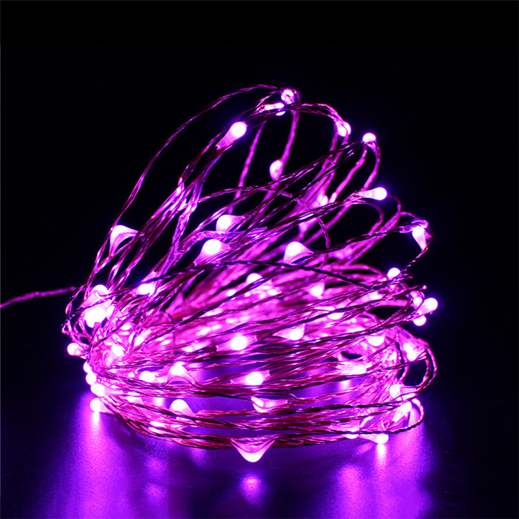 12V Waterproof 10M 100 LED Copper String Light Outdoor Christmas Wedding Party Fairy Neon Decoration Lights