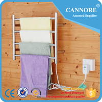 High Quality SUS304 Stainless Steel Wall Hung Electric Heated Towel Rack