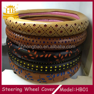 2017 PU MATERIAL NEW ITEM STEERING WHEEL COVER