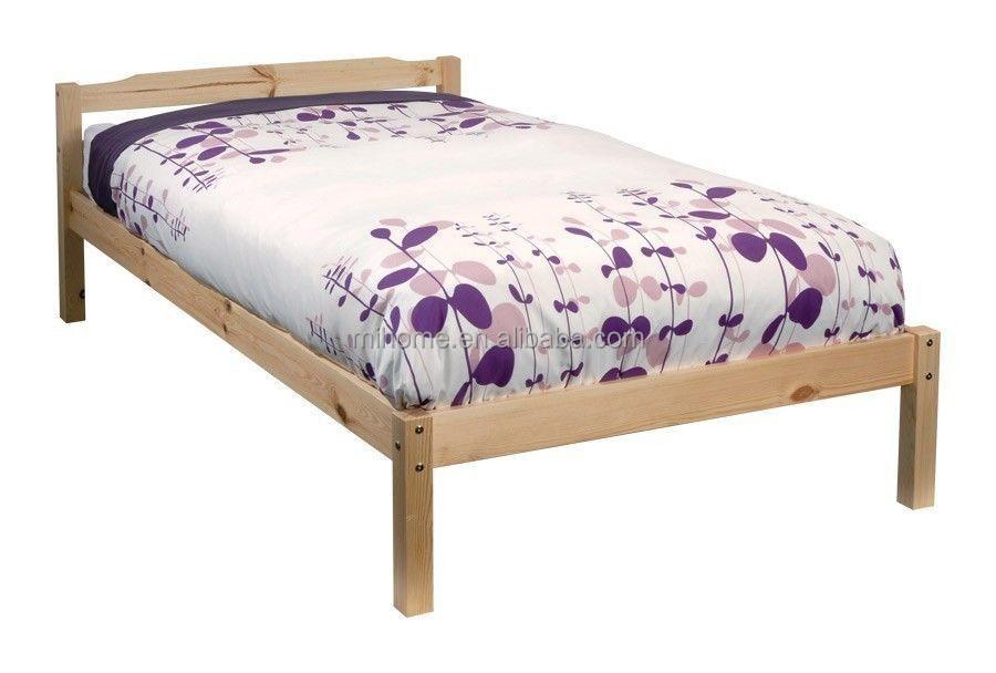 Single Pine Bed Frame Kids Teenager Wooden 190 90 3ft - Buy Soild ...