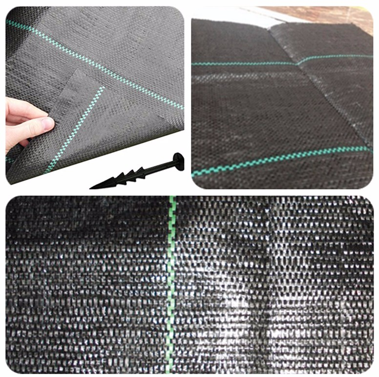 grass cloth fabric anti grass clothblack plastic mulch weed barrier fabric - Weed Barrier