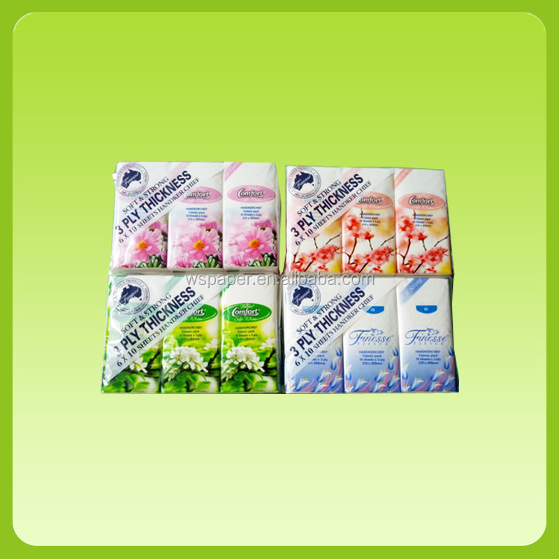 Handkerchief tissue paper;Soft Facial Tissue Pocket Tissue