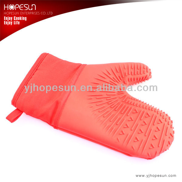Silicone heat resistant cooking gloves/esd heat-resistant gloves